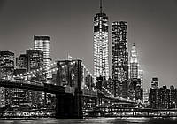 Фотообои виниловые 416x254 см Город Нью-Йорк: Ночной бруклинский мост 13032WVZXXXL Лучшее качество