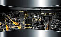 Фотошпалери флізелінові 3D 368х254 см Вид на нічне місто (2206V8) Найкраща якість