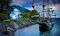 Фотошпалери флізелінові 3D 368x254 см Піратський корабель і скарб (2051V8) Найкраща якість