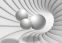 Фотообои виниловые 3D 416х254 см Туннель с шарами (10141WVZXXXL) Лучшее качество