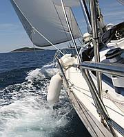 Фотошпалери флізелінові 3D Корабель 225х250 см Вітрильник (MS-3-0192) Найкраща якість