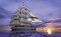 Фотошпалери флізелінові 3D 312x219 см Штиль навколо корабля (892VEXXL) Найкраща якість