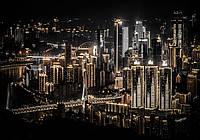 Фотошпалери флізелінові 3D 312x219 см Нічне місто (12998VEXXL) Найкраща якість