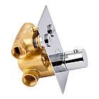 Смеситель термостатический скрытого монтажа для душа Qtap Votice 6442T105NKC на два потребителя, фото 3