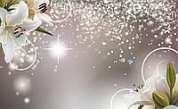 Фотообои флизелиновые цветы 312х219 см Лилии и золотая пыль (3055VEXXL) Лучшее качество