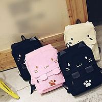 Рюкзак для девочки с котом и ушками