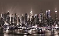 Фотошпалери 254x184 см Нічний міської причал (1311P4) Найкраща якість