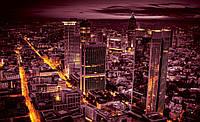 Фотошпалери місто 368х254 см Нічний мегаполіс (331P8) Найкраща якість