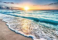 Фотообои 3D виниловые с блеском 416х290 см Волшебный закат и море (11040GWVZXXXXL) Лучшее качество
