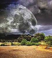 Фотошпалери флізелінові 3D Космос 225х250 см Місяць (MS-3-0185) Найкраща якість