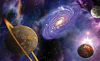 Фотошпалери флізелінові 3D космос 254x184 см Галактика (309V4) Найкраща якість