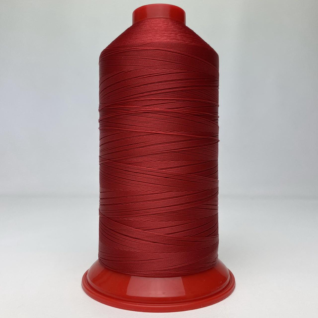 Нитка POLYART(ПОЛИАРТ) N30 колір 1644 червоний, для пошиття чохлів на автомобільні сидіння і кермо, 2500м