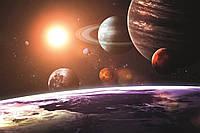 Фотошпалери флізелінові 3D Космос 375х250 см Сонячна система (MS-5-0188) Найкраща якість