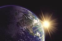 Фотошпалери флізелінові 3D Космос 375х250 см Земля і сонце (MS-5-0190) Найкраща якість