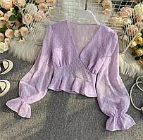 Жіноча блуза шифон 42-44, 44-46