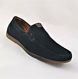 Мужские мокасины. Летние туфли. Чёрные туфли в сеточку, фото 6