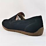Мужские мокасины. Летние туфли. Чёрные туфли в сеточку, фото 9