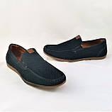 Мужские мокасины. Летние туфли. Чёрные туфли в сеточку, фото 4