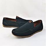 Мужские мокасины. Летние туфли. Чёрные туфли в сеточку, фото 3