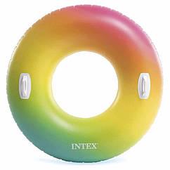 "Надувний круг з ручками Intex 58202 ""Вихор кольору"" Color Whirl Tube (122 см)"