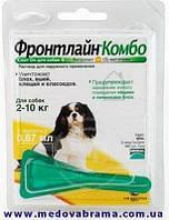 Фронтлайн Комбо (Frontline Combo) Мериал, Франция- капли на холку для собак весом от 2 до 10 кг