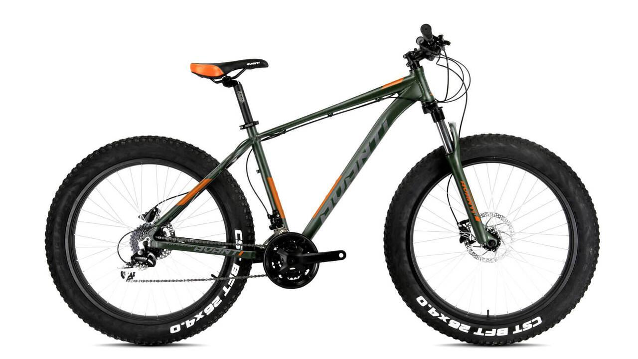 """Велосипед 26"""" Avanti FAT PRO темно-зелений з помаранчевим"""