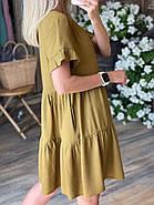 Повсякденна сукня вільного крою з коротким рукавом, фото 2