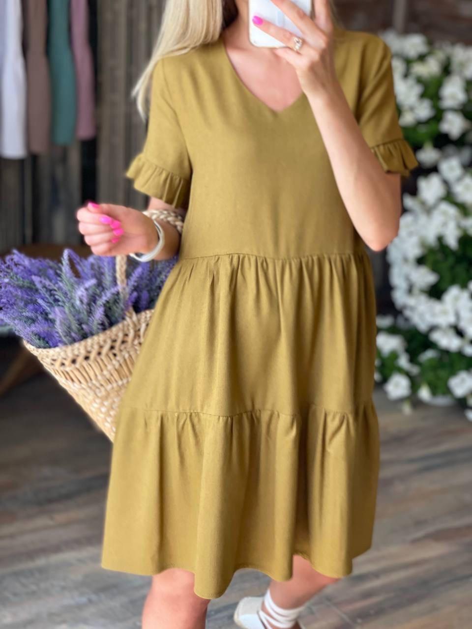 Повсякденна сукня вільного крою з коротким рукавом