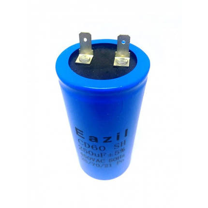 Конденсатор пусковой для электродвигателя Eazil CD60 250 uF мкФ 450V, фото 2
