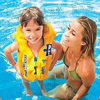 Жилет 3-6 років жовтий 50*47см Intex 58660