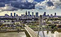 Фотошпалери 3D 368x254 см Великий світлий місто (1184P8) Найкраща якість