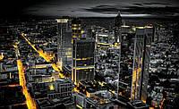 Фотошпалери флізелінові 3D 312x219 см Нічний просунутий місто (326VEXXL) Найкраща якість