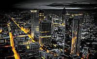 Фотошпалери флізелінові 3D 416x254 см Нічний просунутий місто (326VEXXXL) Найкраща якість