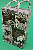 Пакет паперовий МІНІ 8*12*3.5 арт21 (12 шт)