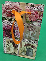 Пакет паперовий МІНІ 8*12*3.5 арт13 (12 шт)