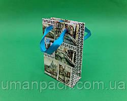 Пакет подарунковий паперовий МІНІ 8*12*3.5 арт65 (12 шт)