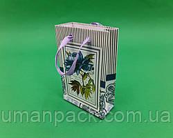 Пакет паперовий МІНІ 8*12*3.5 арт16 (12 шт)