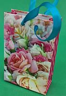 Пакет подарунковий паперовий МІНІ 8*12*3.5 арт66 (12 шт)