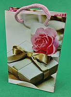 Пакет паперовий МІНІ 8*12*3.5 арт10 (12 шт)