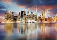Фотошпалери флізелінові 3D 368х254 см Блискучий місто 11854V8 Найкраща якість