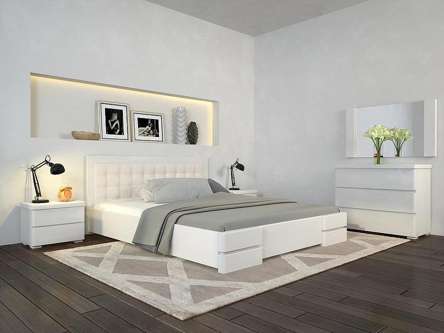 Дерев'яне ліжко з масиву дерева - Регіна Люкс 1,6*2