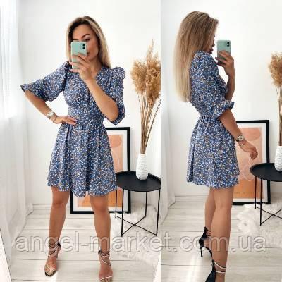 Жіноче літнє плаття в квіточку новинка 2021