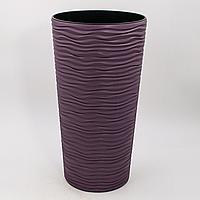 """Горшок для цветов """"Фьюжн"""" d22*41,5см. (фиолетовый)"""