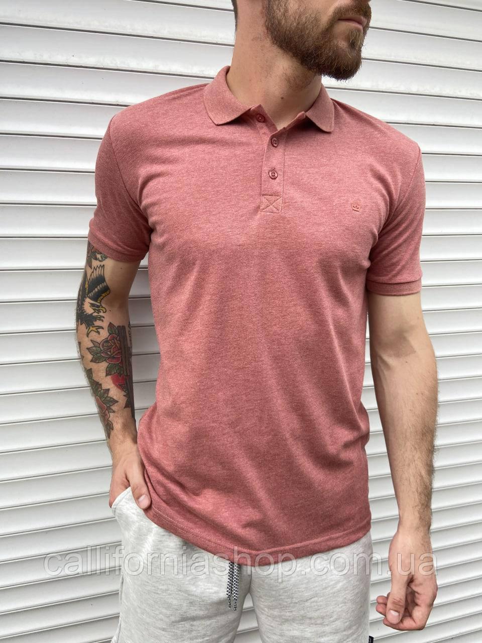 Мужская футболка поло с воротником