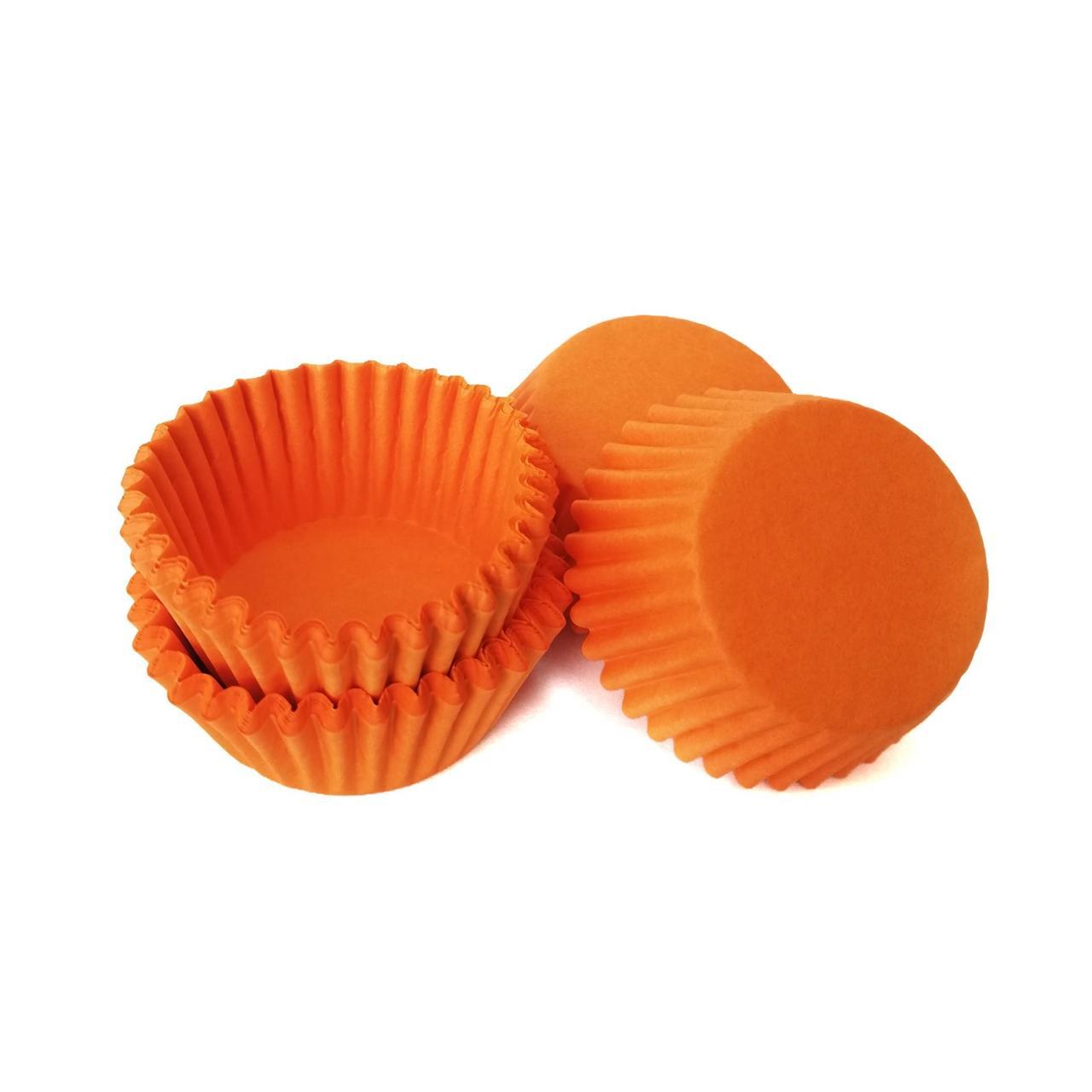 Тарталетки паперові помаранчеві (100 шт/уп)