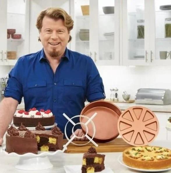 Многофункциональная антипригарная форма для выпечки Copper Chef Perfect Cake Pan, Круглая форма для выпекания