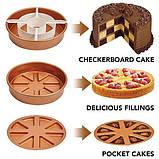 Многофункциональная антипригарная форма для выпечки Copper Chef Perfect Cake Pan, Круглая форма для выпекания, фото 3