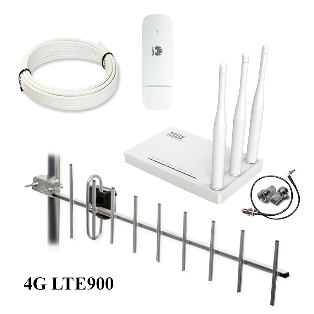 Интернет комплект для сельской местности (4G LTE-900, Wi-Fi, расстояние до 30 км)