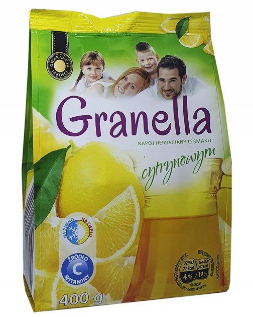 Чай гранулированный  растворимый со вкусом лимона Granella  400г, Польша
