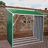 Накрытие для дров металлическое зеленый с белым, фото 4